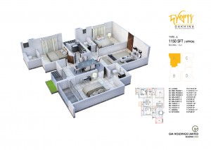 1150 Sq Ft Apartment Layout