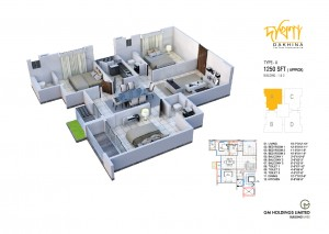 1250 Sq Ft Apartment Layout