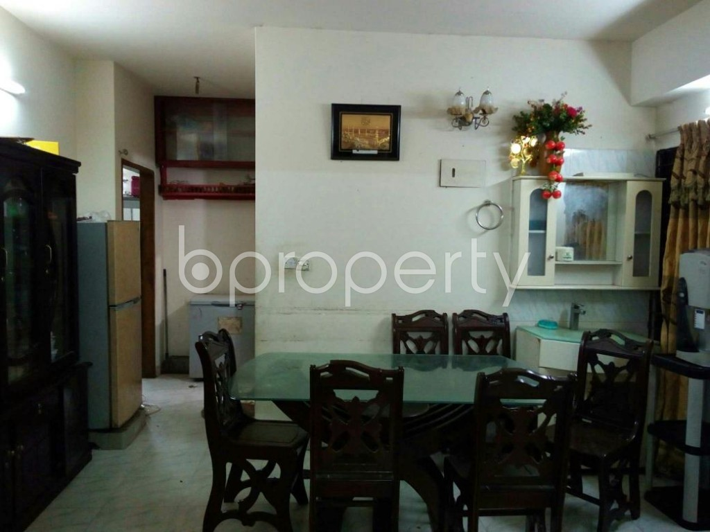 Dining area - 3 Bed Apartment for Sale in Mohammadpur, Dhaka - 1835262