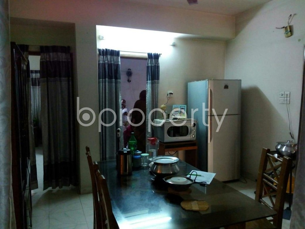 Dining area - 3 Bed Apartment for Sale in Mohammadpur, Dhaka - 1836576