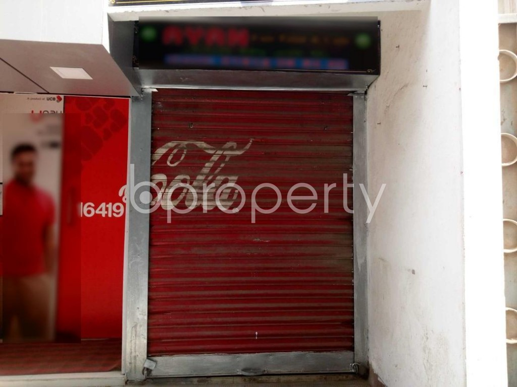 Front view - Shop to Rent in Maghbazar, Dhaka - 1838869