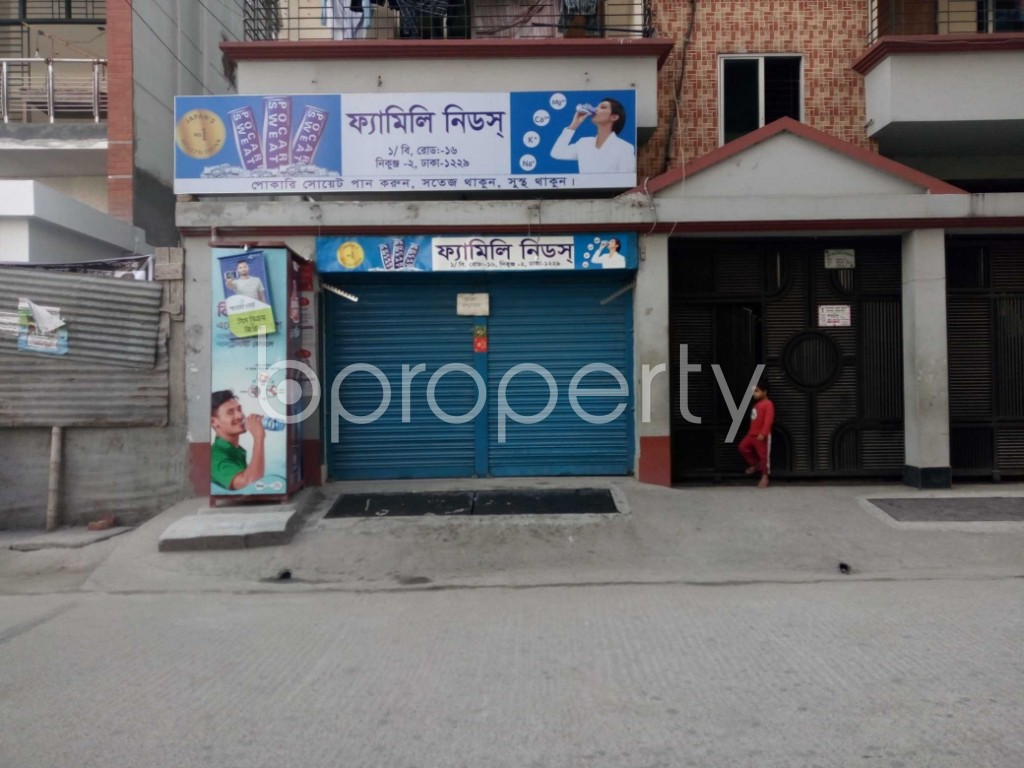 Outside view - Shop to Rent in Nikunja, Dhaka - 1847478