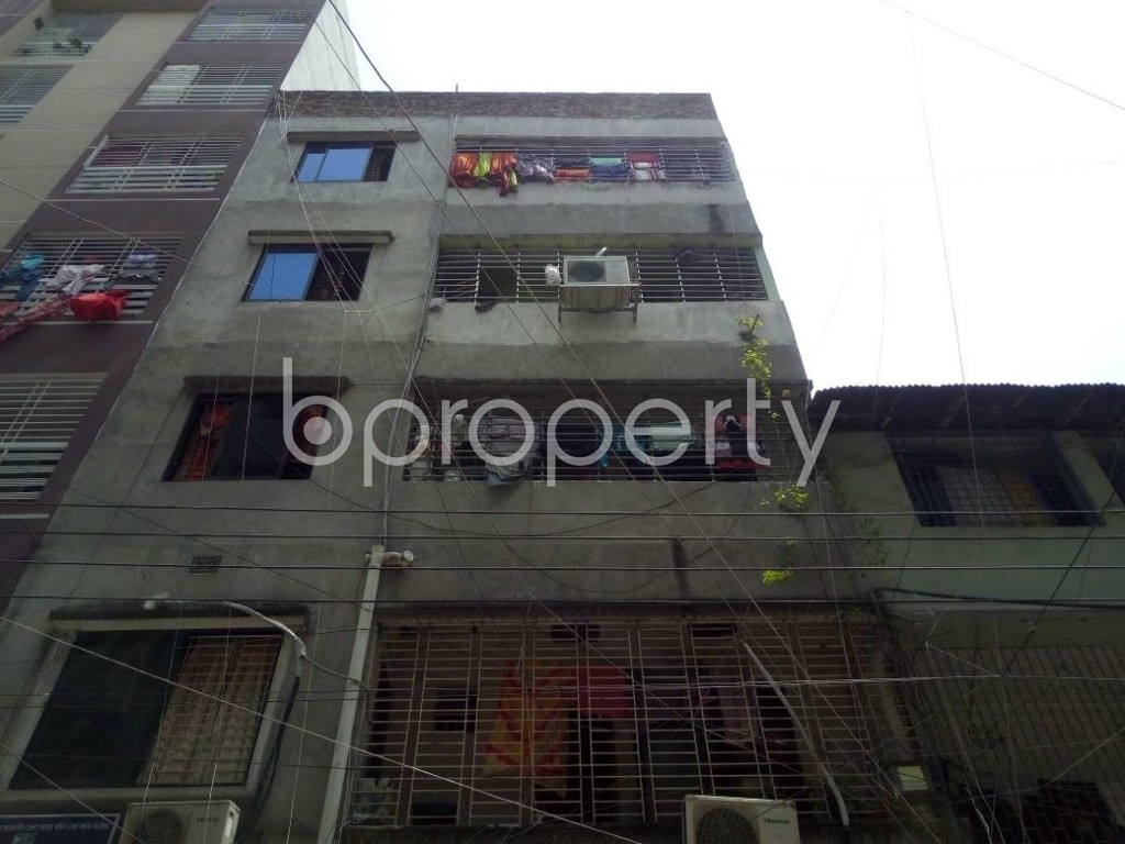 Front view - 4 Bed Apartment for Sale in Lalmatia, Dhaka - 1886812