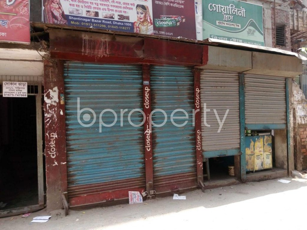 Front view - Shop to Rent in Shantinagar, Dhaka - 1887891