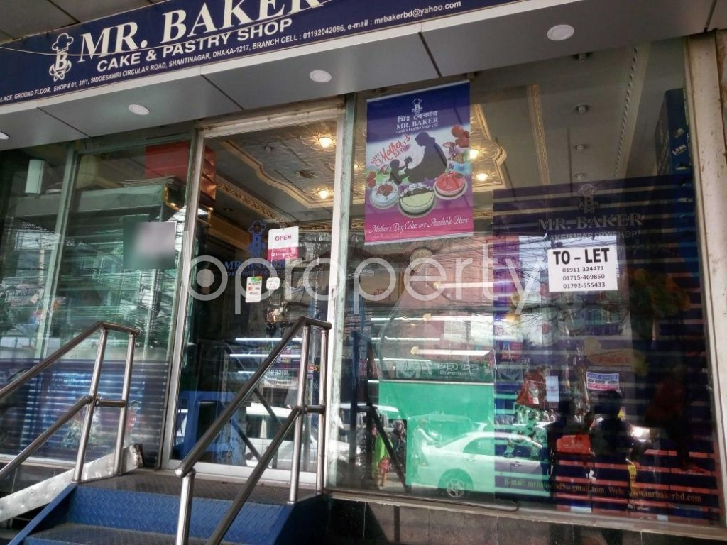 Front view - Shop to Rent in Shiddheswari, Dhaka - 1888430