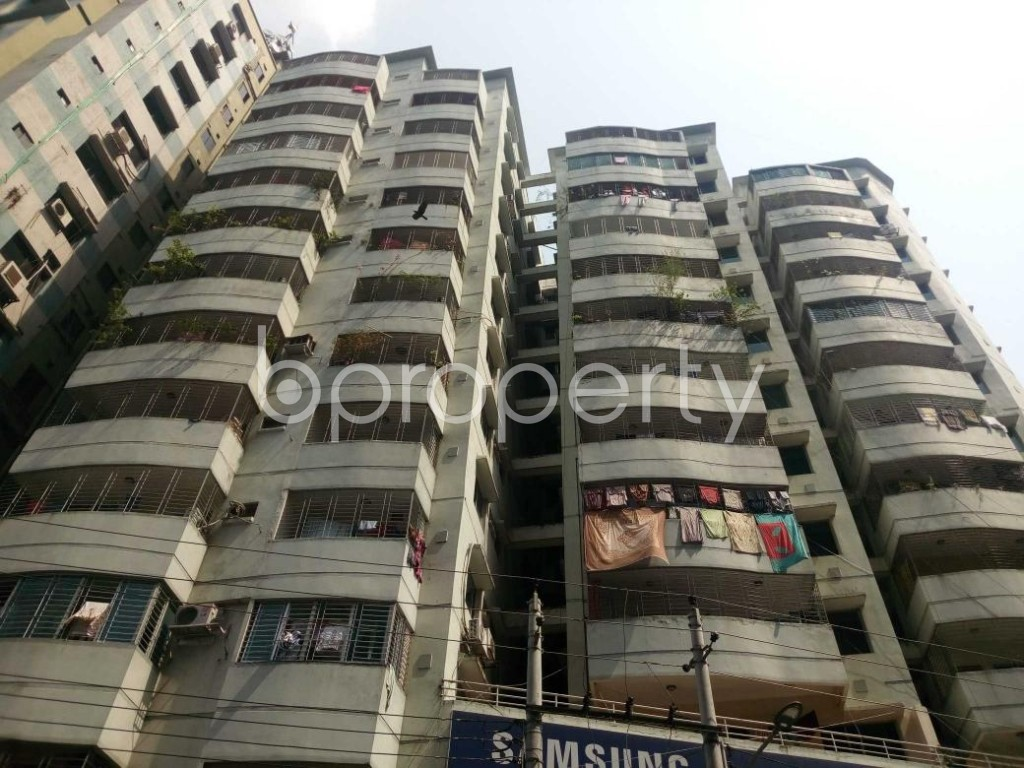 Front view - 3 Bed Apartment for Sale in Hatirpool, Dhaka - 1888745