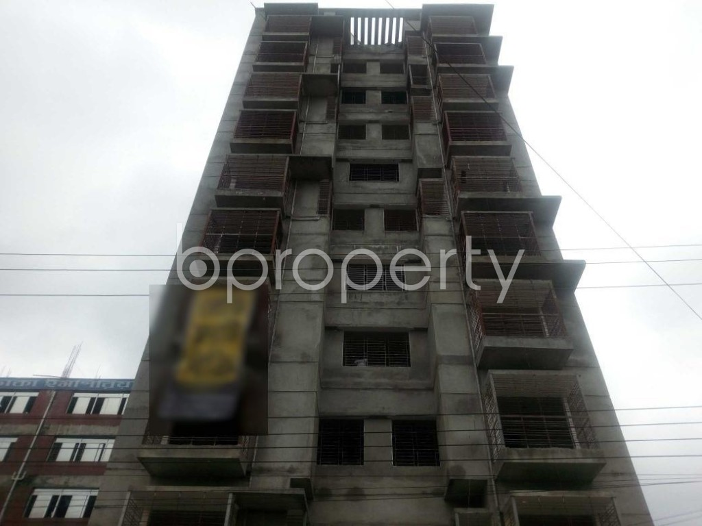 Front view - 3 Bed Apartment for Sale in Aftab Nagar, Dhaka - 1903429