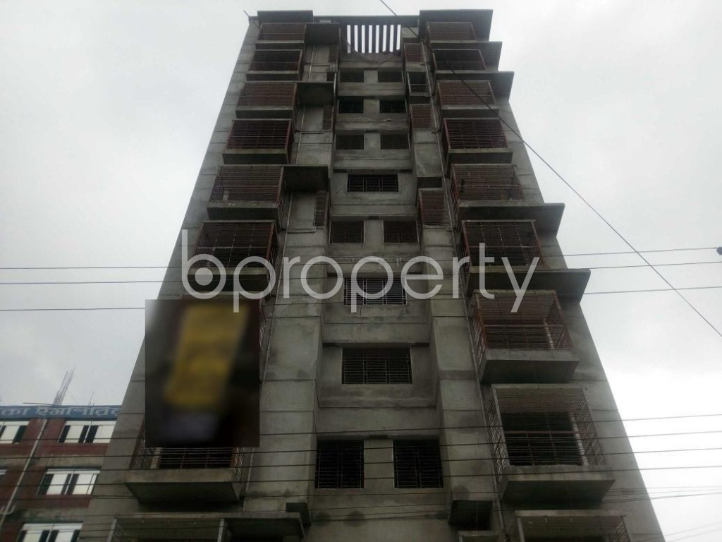 Front view - 3 Bed Apartment for Sale in Aftab Nagar, Dhaka - 1903437