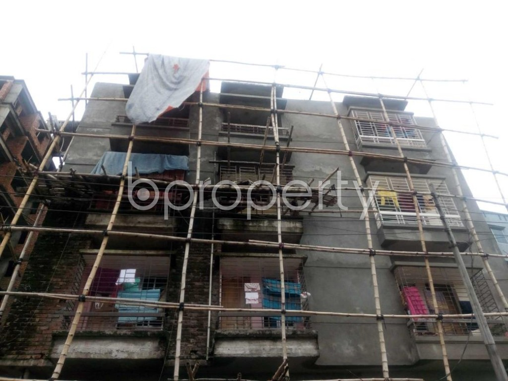 Front view - 2 Bed Apartment for Sale in Aftab Nagar, Dhaka - 1904033