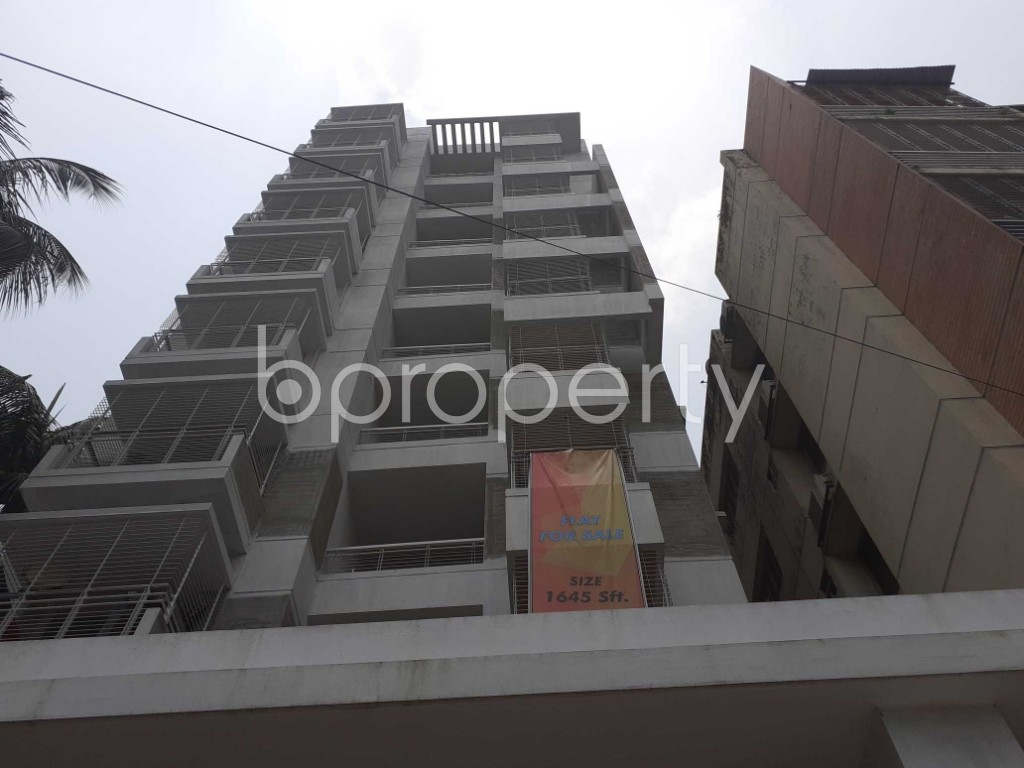 Front view - 3 Bed Apartment for Sale in Malibagh, Dhaka - 1905186