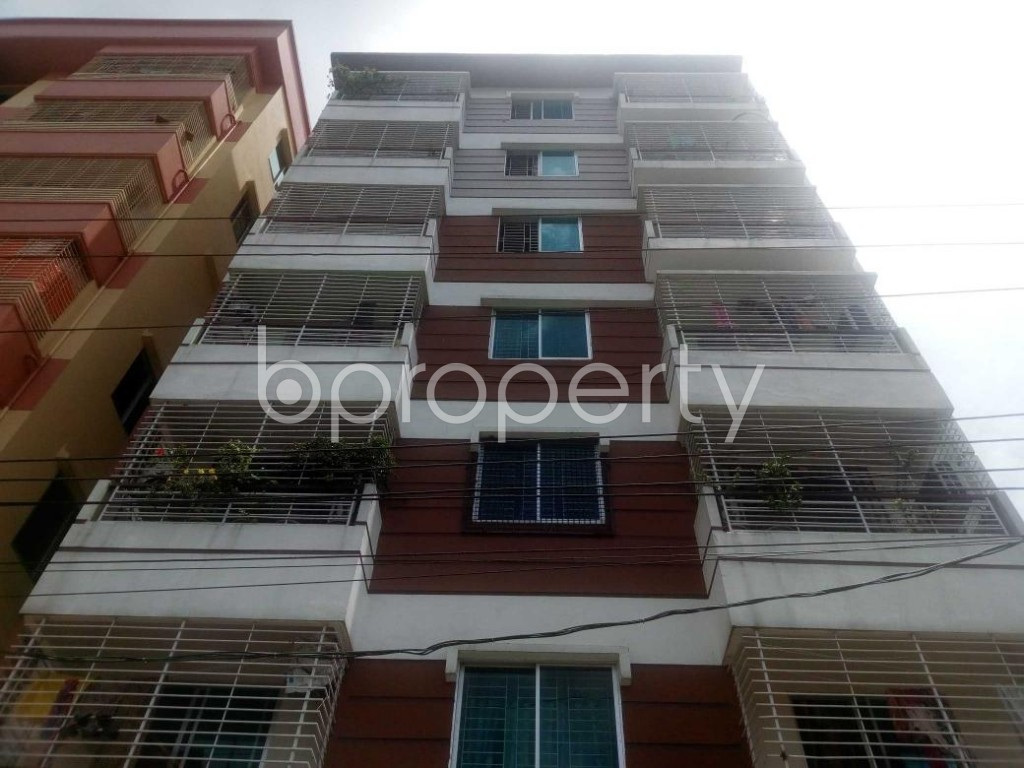 Front view - 3 Bed Apartment for Sale in Aftab Nagar, Dhaka - 1907202