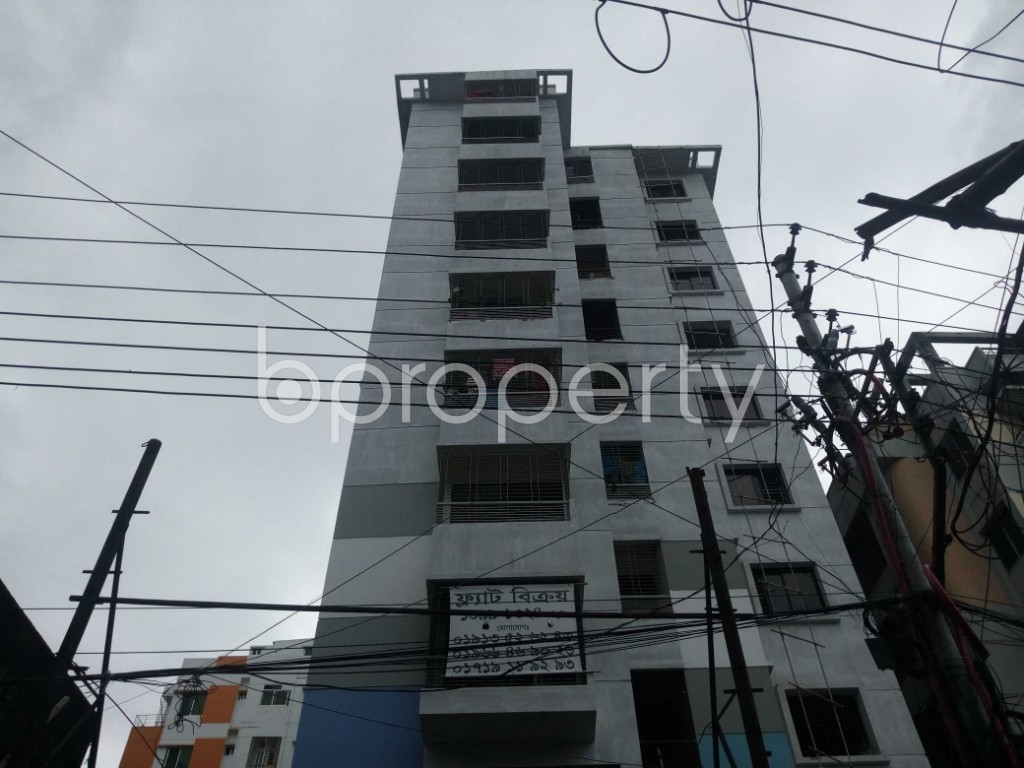 Front view - 3 Bed Apartment for Sale in Malibagh, Dhaka - 1909154