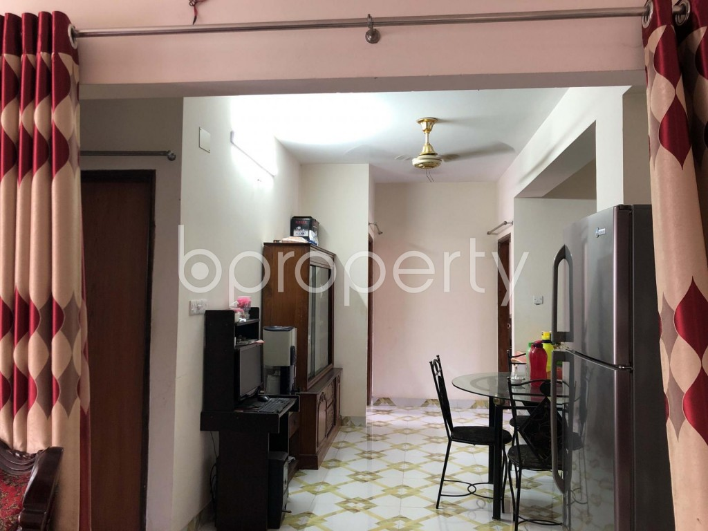 Dining area - 3 Bed Apartment for Sale in Dhanmondi, Dhaka - 1912063