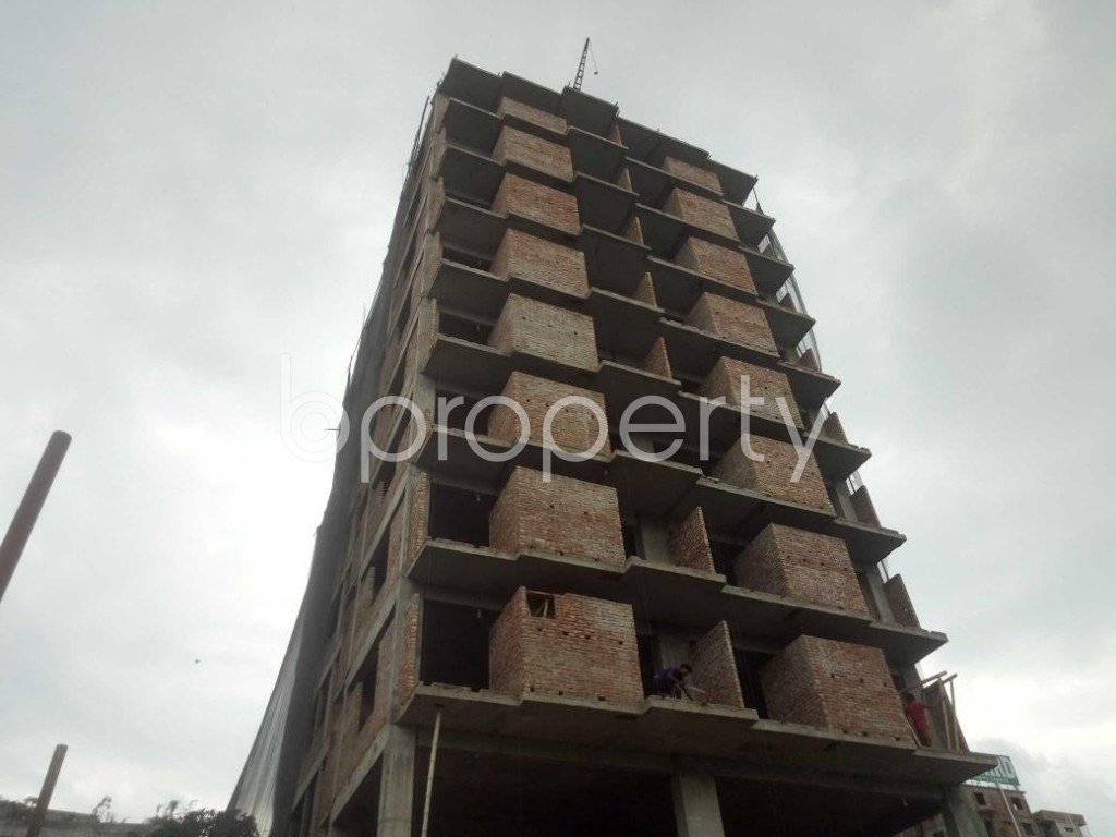 Front view - 3 Bed Apartment for Sale in Badda, Dhaka - 1919527