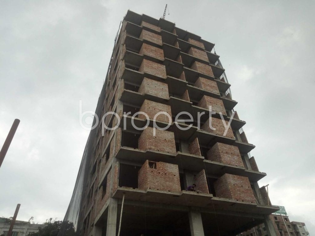 Front view - 3 Bed Apartment for Sale in Badda, Dhaka - 1919532