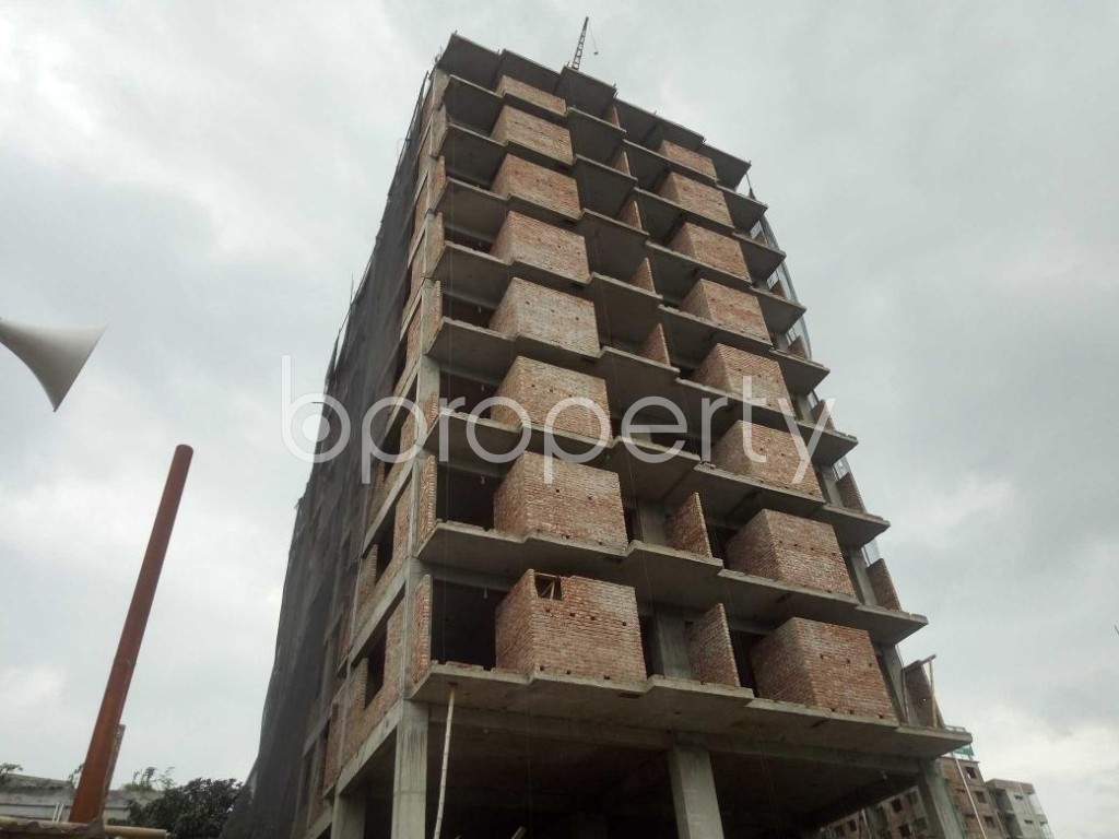 Front view - 3 Bed Apartment for Sale in Badda, Dhaka - 1919537