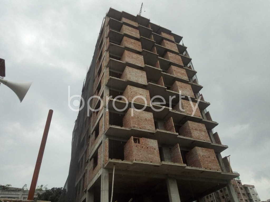 Front view - 3 Bed Apartment for Sale in Badda, Dhaka - 1919538