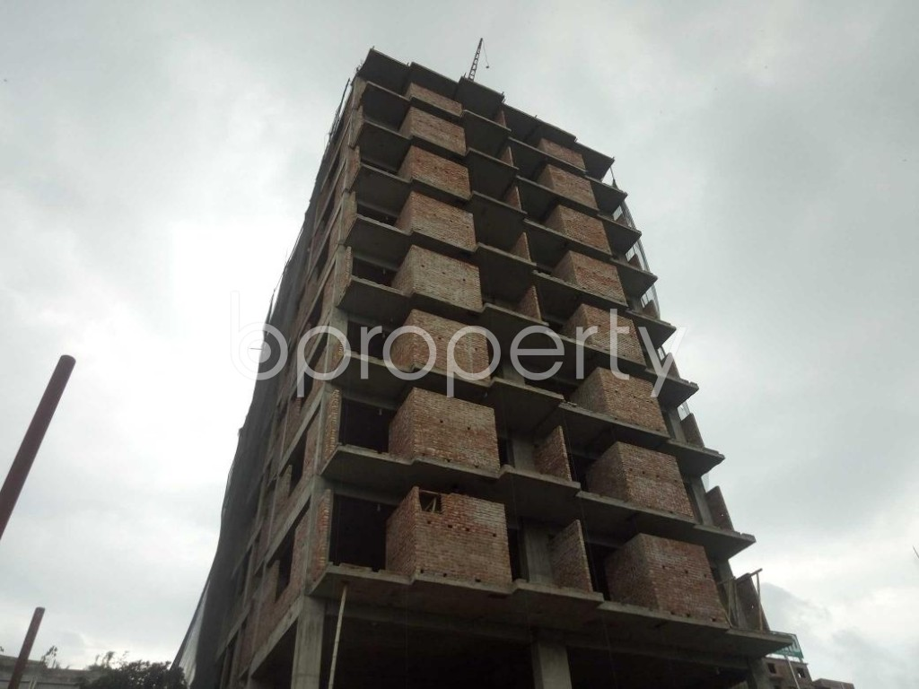 Front view - 3 Bed Apartment for Sale in Badda, Dhaka - 1919556