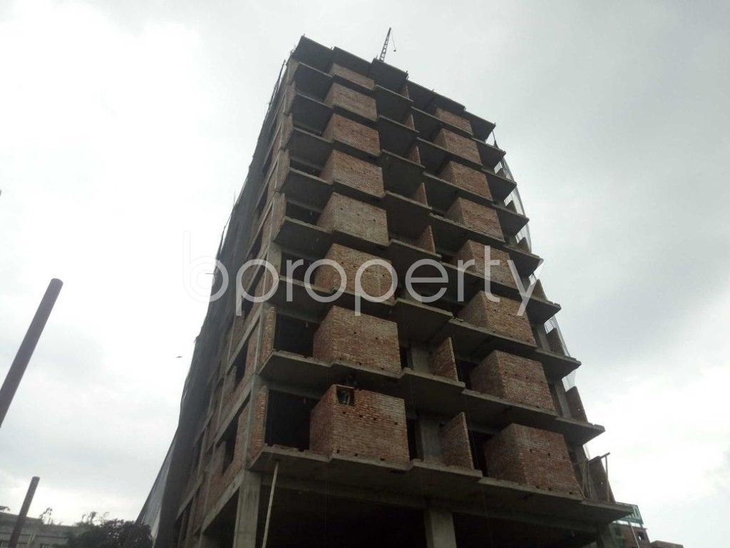 Front view - 3 Bed Apartment for Sale in Badda, Dhaka - 1919557