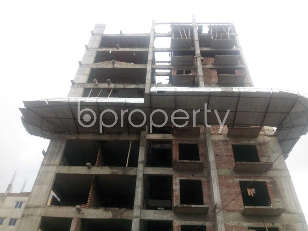 Front view - 3 Bed Apartment for Sale in Aftab Nagar, Dhaka - 1925743