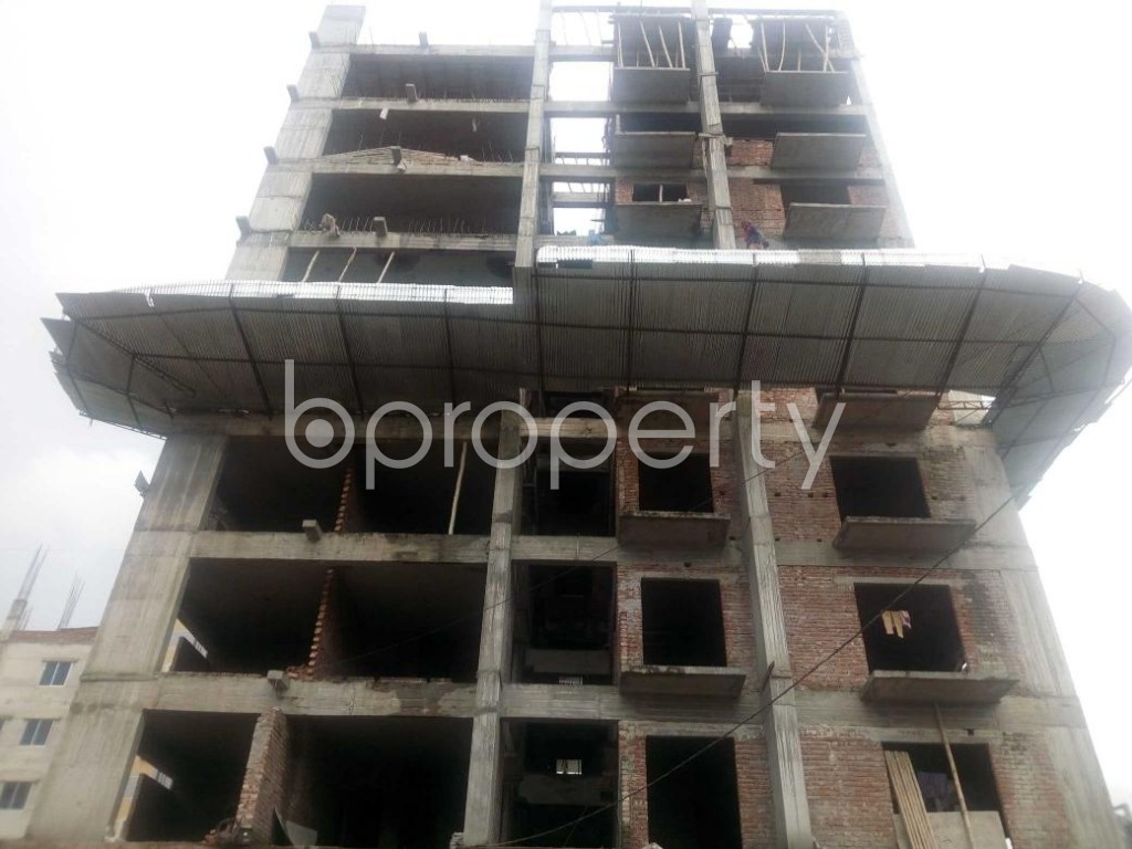 Front view - 3 Bed Apartment for Sale in Aftab Nagar, Dhaka - 1925744