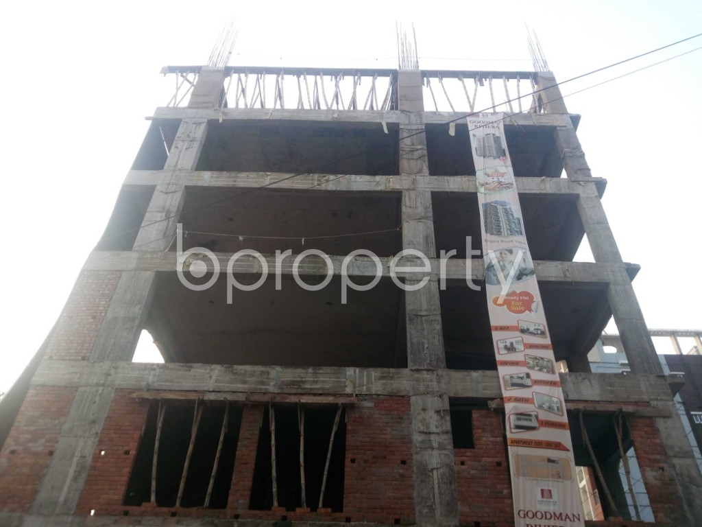 Front view - 3 Bed Apartment for Sale in Aftab Nagar, Dhaka - 1932851