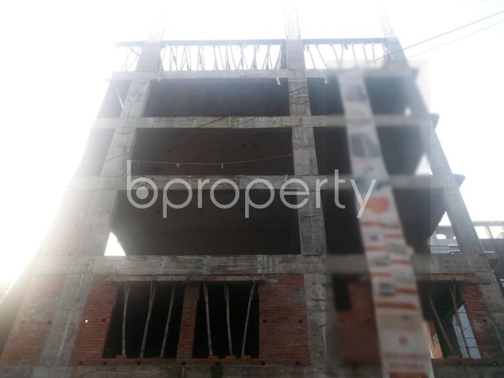 Front view - 3 Bed Apartment for Sale in Aftab Nagar, Dhaka - 1932869