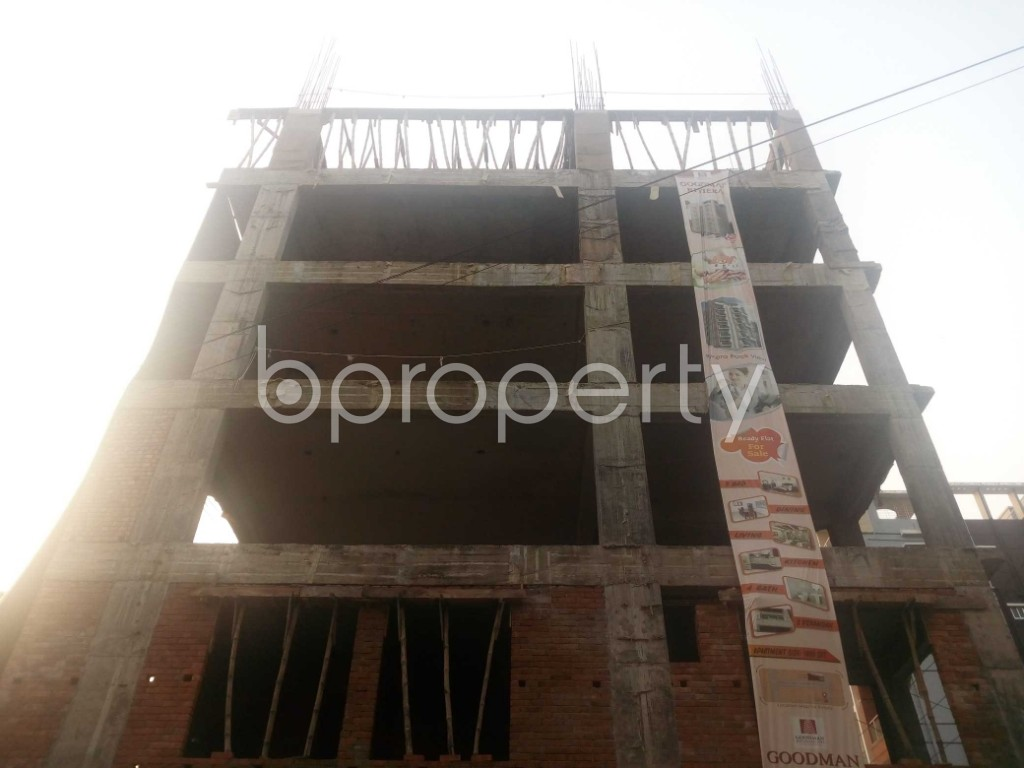 Front view - 3 Bed Apartment for Sale in Aftab Nagar, Dhaka - 1932876