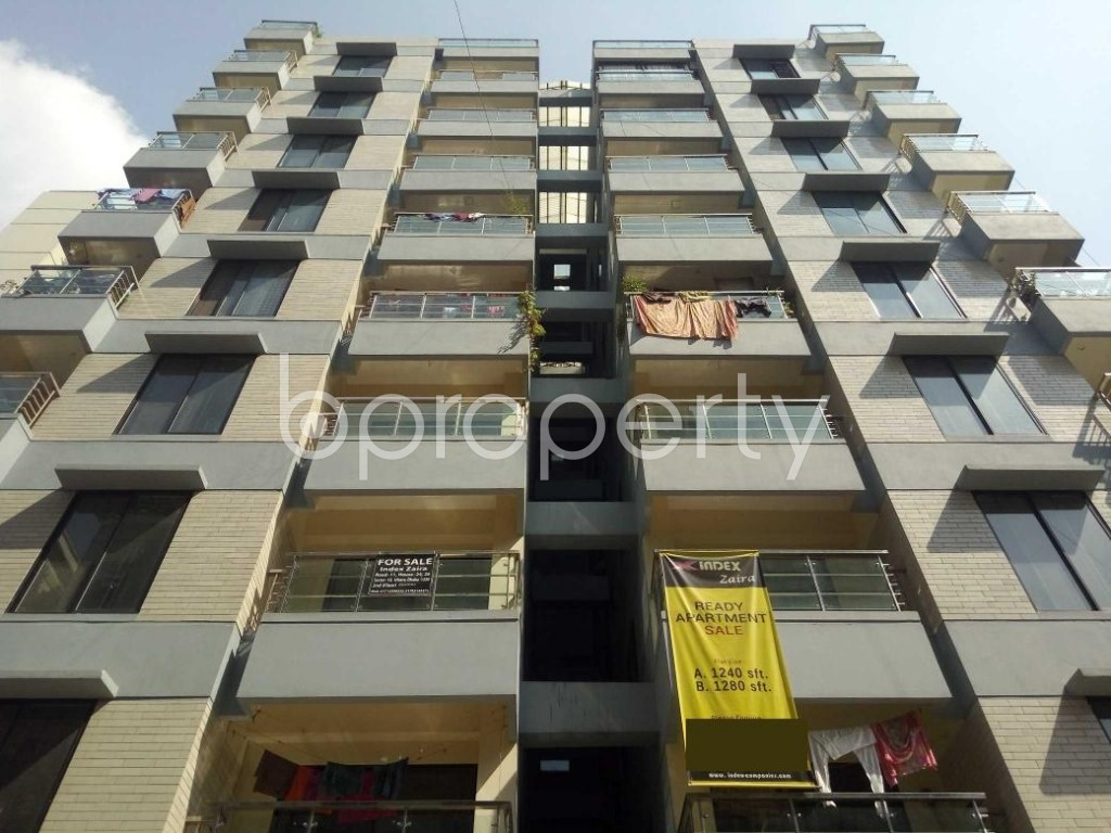 Front view - 3 Bed Apartment for Sale in Uttara, Dhaka - 1941337