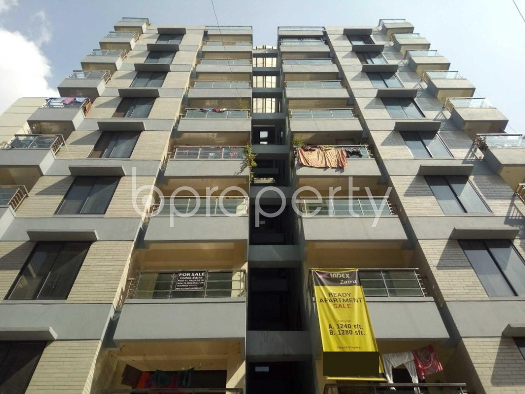 Front view - 3 Bed Apartment for Sale in Uttara, Dhaka - 1941415