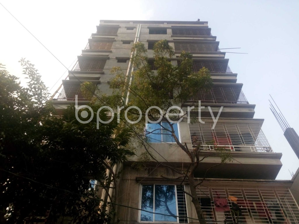 Front view - Office to Rent in Aftab Nagar, Dhaka - 1952431