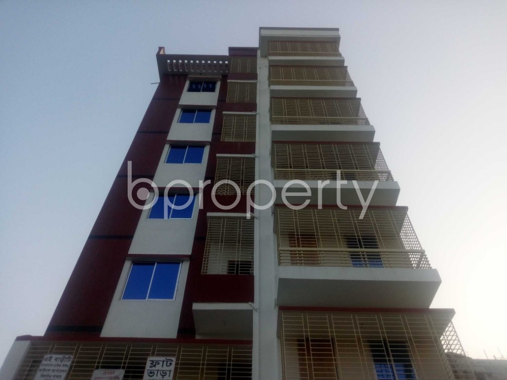 Front view - Office to Rent in Aftab Nagar, Dhaka - 1954902