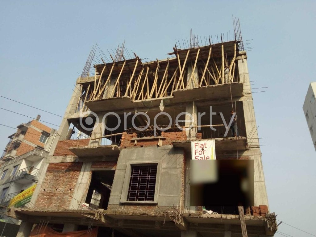 Front view - 3 Bed Apartment for Sale in Bashundhara R-A, Dhaka - 1954675