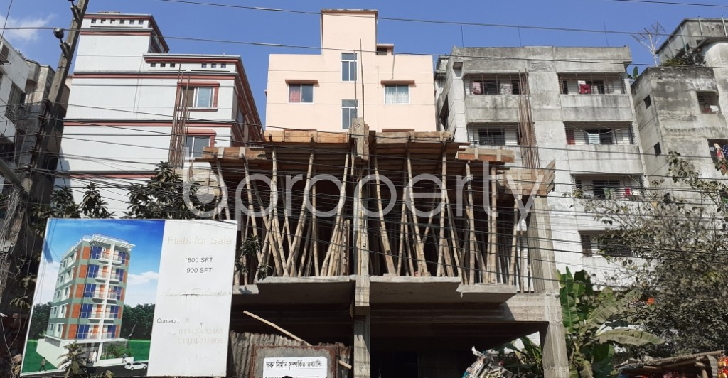 Front view - 2 Bed Apartment for Sale in Uttara, Dhaka - 1961073