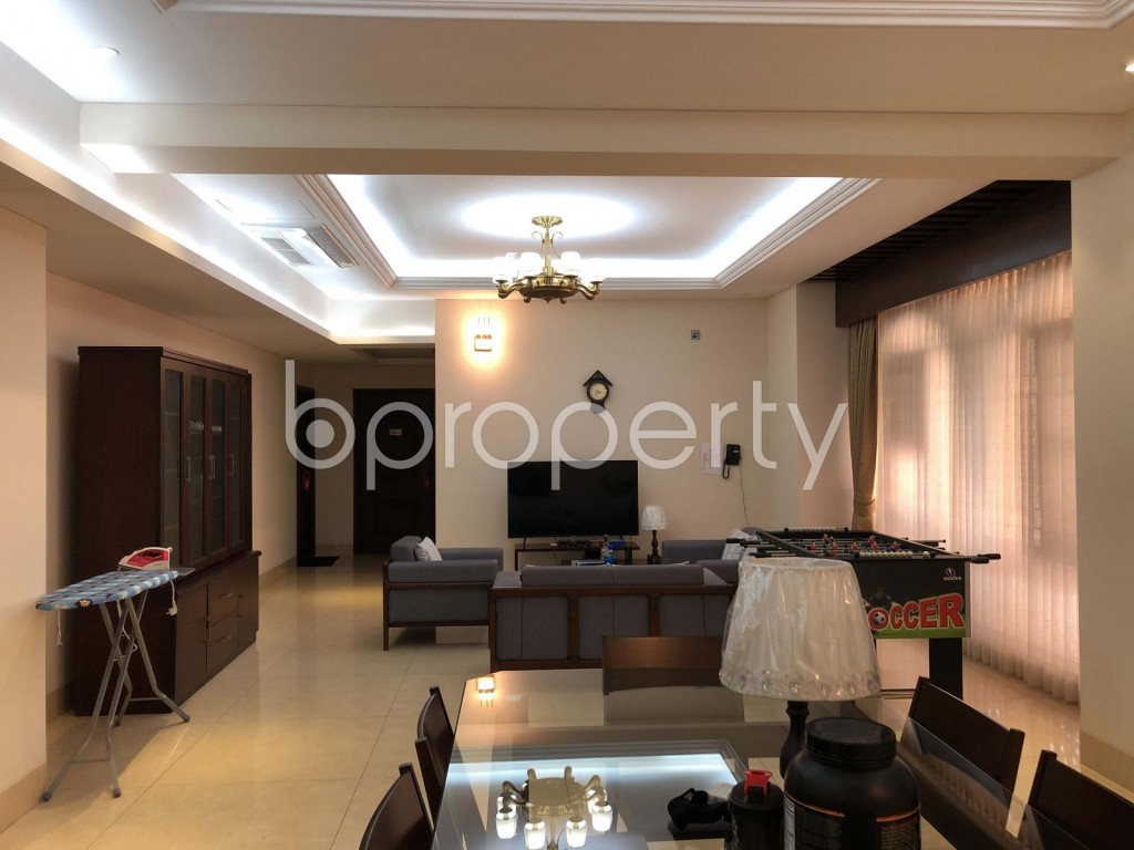 Dining area - 5 Bed Apartment to Rent in Gulshan, Dhaka - 1972671