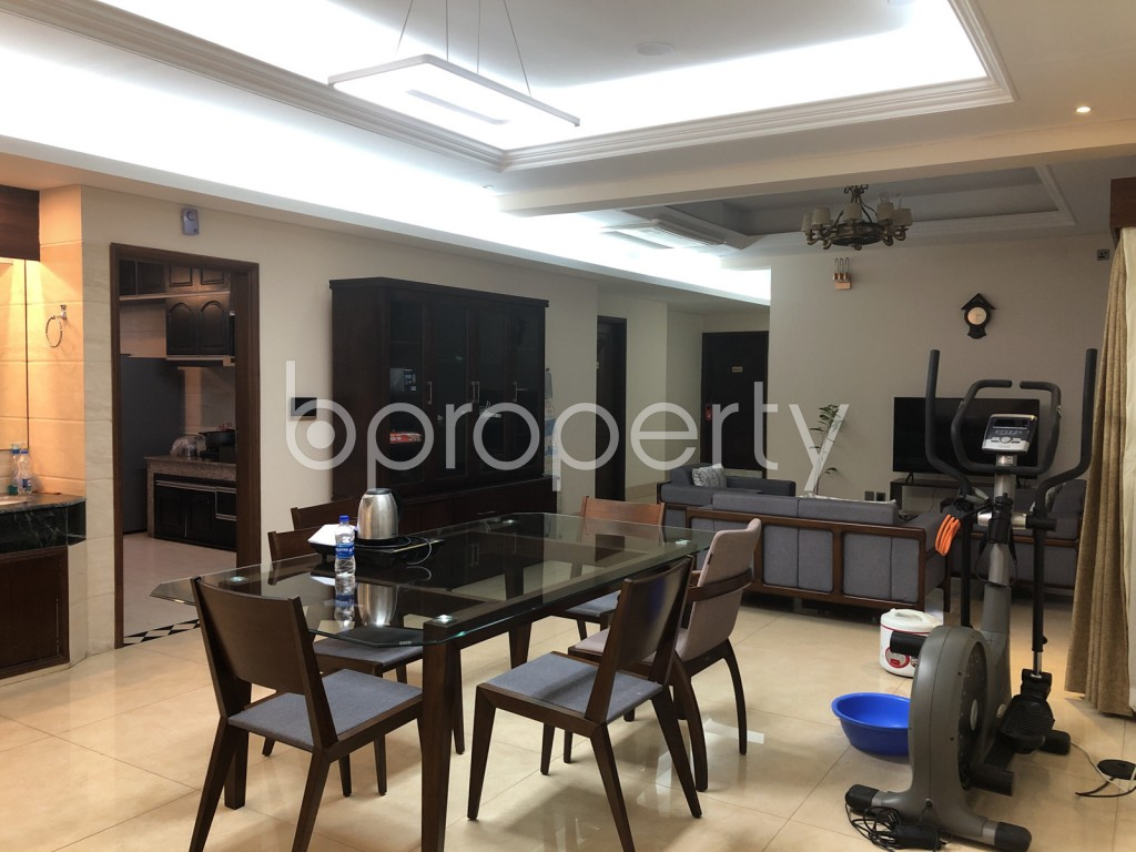 Dining area - 5 Bed Apartment to Rent in Gulshan, Dhaka - 1972669