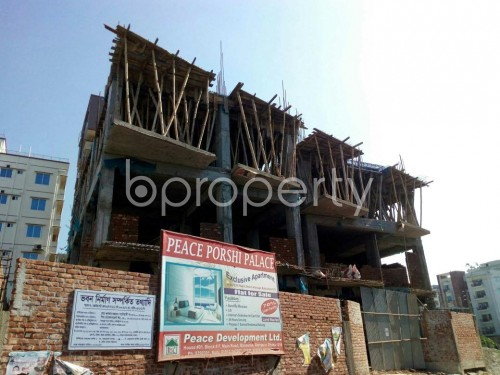 Front view - 3 Bed Apartment for Sale in Aftab Nagar, Dhaka - 1836401