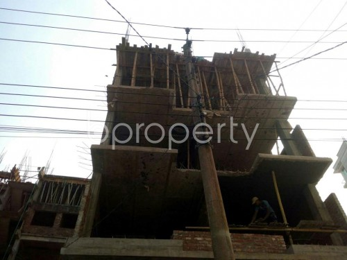Front view - 3 Bed Apartment for Sale in Aftab Nagar, Dhaka - 1837625