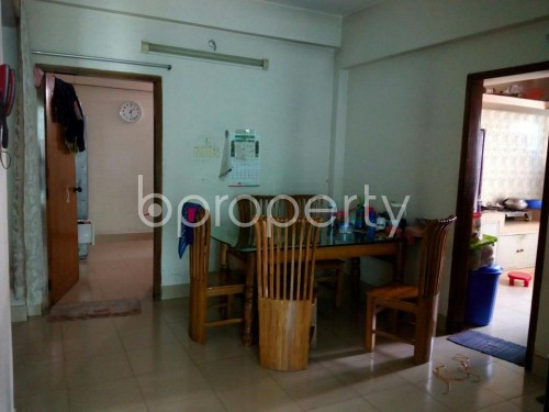 Dining area - 3 Bed Apartment for Sale in Mohammadpur, Dhaka - 1854909