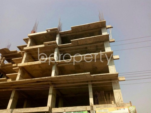 Front view - 3 Bed Apartment for Sale in Aftab Nagar, Dhaka - 1855837