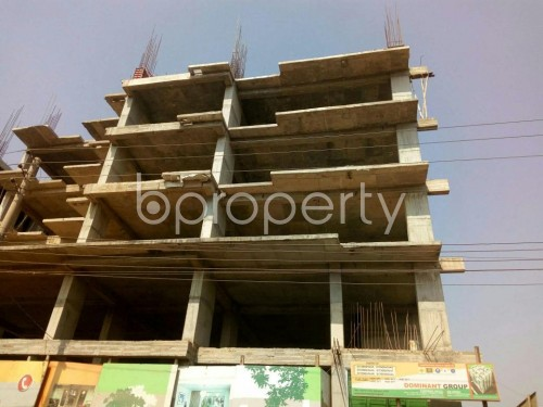 Front view - 3 Bed Apartment for Sale in Aftab Nagar, Dhaka - 1855838