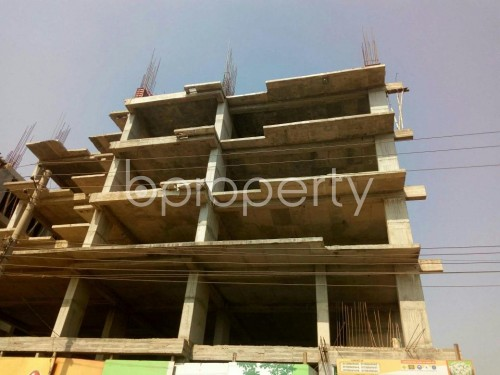 Front view - 3 Bed Apartment for Sale in Aftab Nagar, Dhaka - 1855839