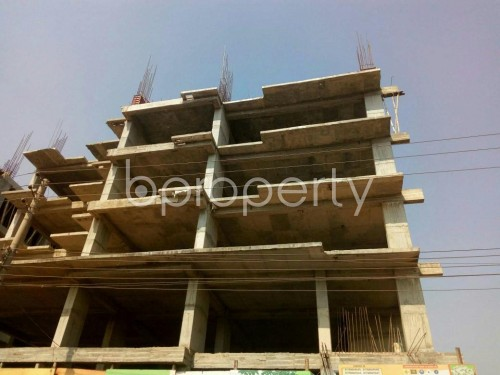 Front view - 3 Bed Apartment for Sale in Aftab Nagar, Dhaka - 1855840