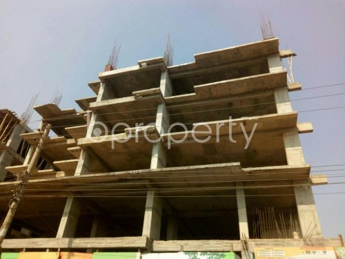 Front view - 3 Bed Apartment for Sale in Aftab Nagar, Dhaka - 1855841