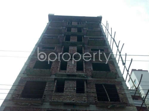Front view - 3 Bed Apartment for Sale in Aftab Nagar, Dhaka - 1859863