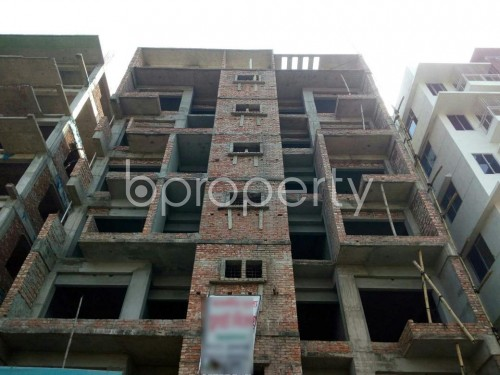 Front view - 3 Bed Apartment for Sale in Aftab Nagar, Dhaka - 1860664