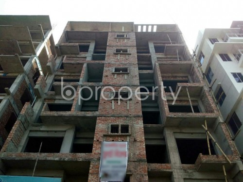 Front view - 3 Bed Apartment for Sale in Aftab Nagar, Dhaka - 1860665