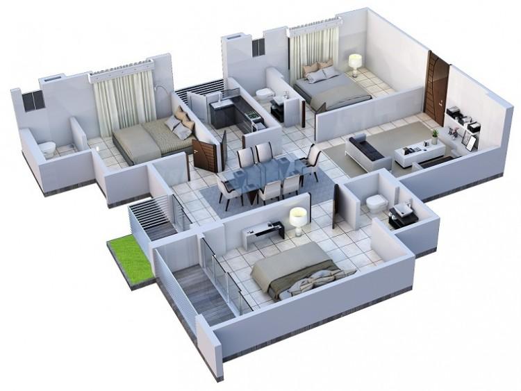 1250 Sq Ft Apartment Design